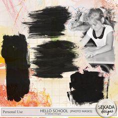 Collections :: H :: Hello School By Sekada Designs :: Hello School - Photo Masks