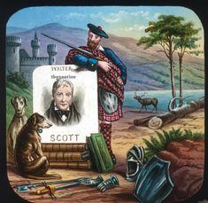 Walter Scott Lantern Slide c1900 Handcoloured Scottish Poet Scotland wonderful Tower Of London, Spring Blossom, Poet, Lantern, Scotland, Scene, Painting, Ebay, Hurricane Glass