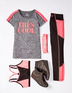 Keep her on-the-go in style with cute & durable girls' sportswear when you shop Justice. From practice to gym class, she'll love our girls' sports clothes. Cute Girl Outfits, Kids Outfits Girls, Sporty Outfits, Athletic Outfits, Dance Outfits, Cool Outfits, Athletic Wear, Kids Girls, Tween Fashion