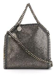 'Falabella' glitter tote $1,355 #Farfetch #relevant #DesigerClothing