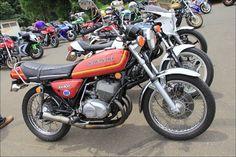 ROAD RIDER: Street motorcycle in Japan - Kawasaki KH400 集合チャンバー