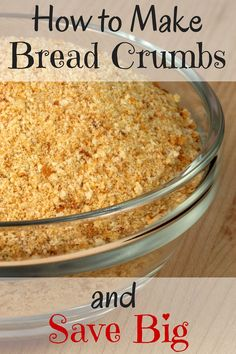 Homemade bread crumbs couldn't be easier! Plus, they're cheaper and tast… Homemade breadcrumbs could not be easier! In addition, they are cheaper and also taste better! Dry Bread, Stale Bread, Bread Cast, E Cooking, Cooking Recipes, Vitamix Recipes, Bread Recipes, Cooking Hacks, Food Hacks