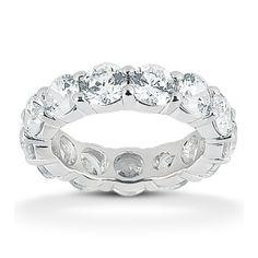 585b2a0be48 Round Diamond Eternity Band Platinum Diamond Eternity Ring