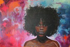 Lone Schebye: Foreløbigt billede af nyt maleri Black Pearl