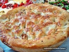 Focaccia rustica Savory Pastry, Ciabatta, Quiche, Nom Nom, Pie, Pasta, Bread, Buns, Breakfast