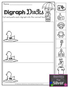 Digraph ducks and other fun and engaging literacy printables for first grade!