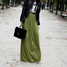 Fashion | Maxi-skirt in winter