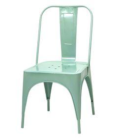 Sienna Blue Metal Chair