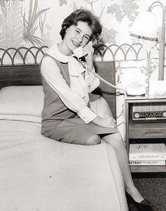 Patty Duke on the phone