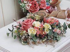 Clarah / Svietnik na stôl Floral Wreath, Wreaths, Home Decor, Floral Crown, Decoration Home, Door Wreaths, Room Decor, Deco Mesh Wreaths, Home Interior Design