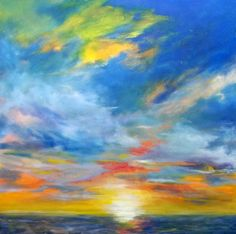30x30 oil on canvas, Glorious Morn artist, carly hardy - Sold