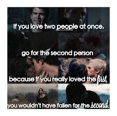 She Chose Peeta cuz she needed him but then she cared and loved Gale