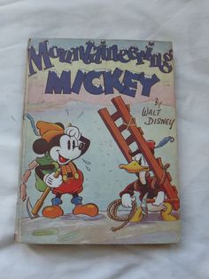 Walt Disney's Mountaineering Mickey 1937 Annual Comic Book Collins UK  Mouse