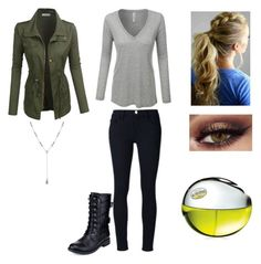 """""""MyStyle"""" by mimimoon95 on Polyvore featuring Frame Denim, LE3NO, Refresh, Lucky Brand and DKNY"""