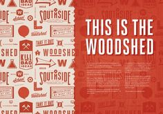 Typography - Typography - This is the woodshed Typography design & inspiration  Preview – Work    Description  This is the woodshed  – Source –