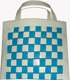 woven duct tape tote bag!!!