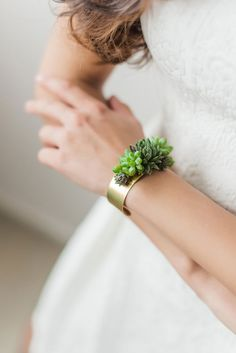 Cuff bracelet statement bracelet corsage by PassionflowerMade Brass Jewelry, Jewelry Accessories, Jewelry Design, Jewlery, Succulent Corsage, Bracelet Corsage, Bridesmaid Bracelet, Bracelet Making, Jewelry Making