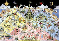 The Wonderful World of Oz (1988) is an extensive map based on L. Frank Baum's   13 books describing the adventures of Dorothy, the Wizard   and other characters in the land of Oz.  - Dick Martin