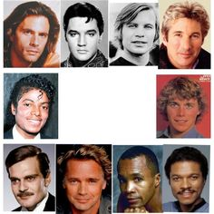 Celebrities listed as Romantics in the book Color for Men, selected by David Kibbe. Some may be Theatrical Romantics.