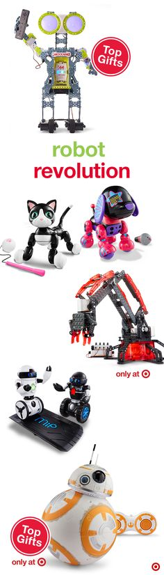 Personal robots are all the rage this Christmas, and there are many options to choose from, representing a full range of fun challenges for young children through teens. Remote control cars, robots and pets are great options, as are robots that need to be built and programmed. There's definitely a gifting option for every techie on your list! (Some are even controlled with an app on your iPhone or Android phone—cool!)