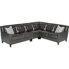 Reina Point Gray Leather 5 Pc Sectional Living Room. $1,849.99.  Find affordable Leather Living Rooms for your home that will complement the rest of your furniture.