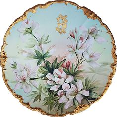 Artist Signed Albert Limoges France Hand Painted Cabinet Plate Limoges Exclusively for Pitkin /& Brooks Chicago Hand Painted Plate
