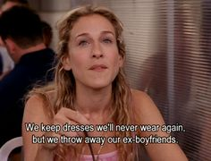 carrie bradshaw knows it all.