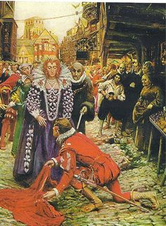 I LOVE LOVE LOVE this picture of Sir Walter Raleigh and Queen Elizabeth.  :)