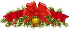Transparent Pine Christmas Decoration PNG Clipart