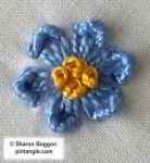 Step by step tutorial on how to work Kikos flower stitch  7