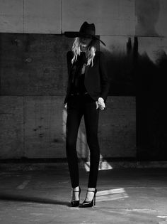 Julia Nobis by Hedi Slimane for Saint Laurent