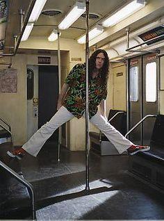 Poodle Hat subway set for photo shoot.