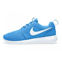 NIKE ROSHE RUN (BLUE HERO) Sneaker Freaker ❤ liked on Polyvore featuring shoes, nike, roshe and sneakers
