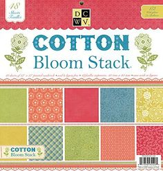 Love these!  Die Cuts with a View - Cotton Bloom Collection - Glitter Paper Stack - 12 x 12