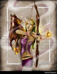Sagittarius ... ZODAIC Fairy Fantasy by mysticmoonmedia on Etsy