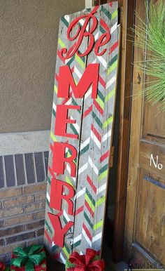 Be Merry - Christmas Sign