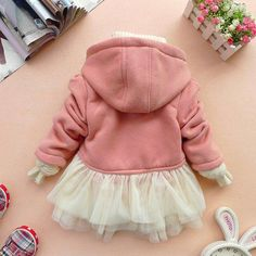 Add tulle to a jacket -- cute for little girl