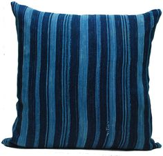 Vintage African Indigo in Stripes via The Estate of Things