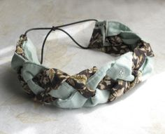 make a no-sew braided headband from scrap fabric