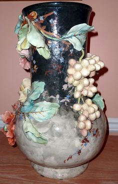 E Gilles French Barbotine Majolica Vase by My Beautiful Barbotine, via Flickr