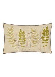 Botanical Fern Embroidered Cushion Approx 30cm x 50cm  Matalan  £5