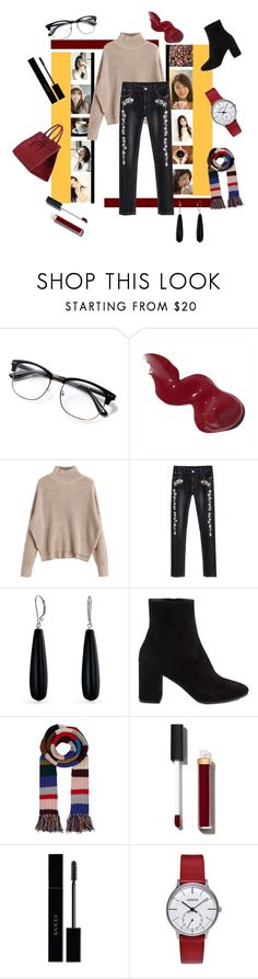 """""""Coffee with IU"""" by kpoooop ❤ liked on Polyvore featuring Bobbi Brown Cosmetics, Bling Jewelry, Balenciaga, Burberry, Chanel, Gucci and Mansur Gavriel"""