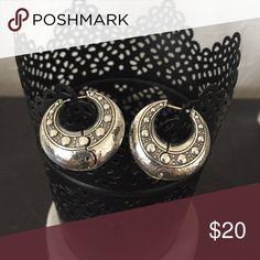 Brighton Josie silver hinge earrings Silver hinge hoop earrings Brighton Jewelry Earrings