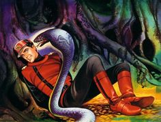 Ron Embleton Captain Scarlet end credits art work. I would have been 6 years old when I first saw the Captain Scarlet paintings. I remember being mesmerised.
