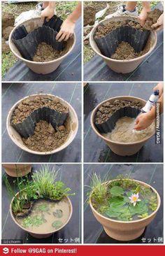 Tuinieren met Bakker » Alles over de Tuin en TuinierenDIY - Een mini-vijver maken | Tuinieren met Bakker