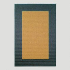 """One of my favorite discoveries at WorldMarket.com: Blue Border Indoor-Outdoor Rug 7'10"""" x9'10 279 Can go under table can be hosed"""