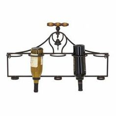 Great for tight spaces! Add artful allure to your dining room or kitchen with this metal wine rack. With space for 5 bottles, its corkscrew-inspired design offers ample room for merlot, pinot noir, and beyond.     Product: Wine rackConstruction Material: MetalColor: BlackFeatures:  Holds up to five wine bottles.