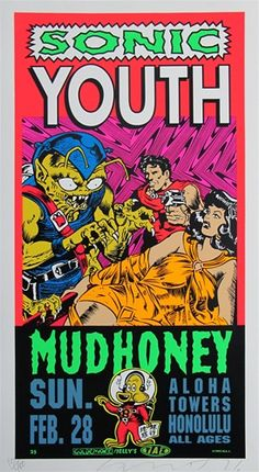SONIC YOUTH #gig #poster #art