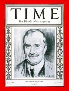TIME Cover - Vol. 9 Nº 12: Paul Claudel   Mar. 21, 1927 http://en.wikipedia.org/wiki/Paul_Claudel