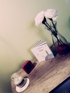 My room decor. Lucky... Little prince. Yankee candle, flowers and alarm clock. Nightstand